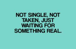 single-not single not taken